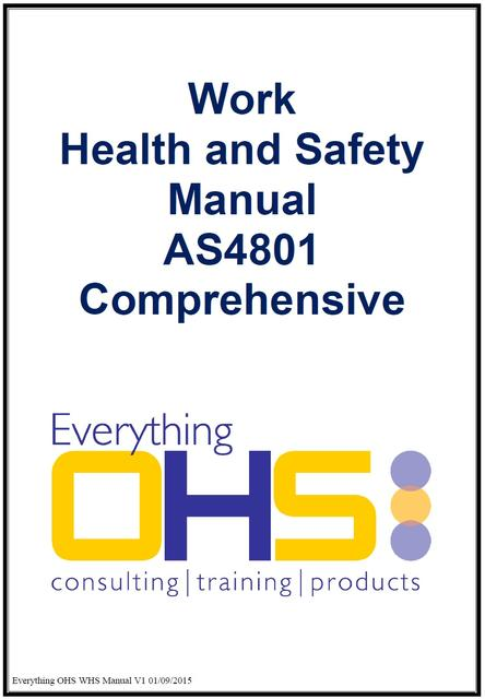 whs manuals everything ohs a resource for australian businesses
